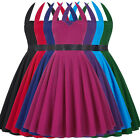 Womens 50s Swing Pin Up Vintage Tea Dress Casual Halter Evening Party Ball Prom