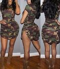 Hot Beach Dressed Sexy Casual Short Party Club Evening  Dress Camouflage M L XL