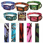 "Heavy Duty Dog Fence 1"" Camo Biothane Big Dog Replacement Straps- 5 New Colors"