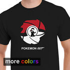 Pokemon James Bond 007 Mens T-shirt, Pikachu Charizard Ash Ketchum Tee $18.99 USD