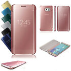 Luxury Mirror Flip Clear Smart Case Cover for Samsung Galaxy S6 S7 Edge S8 Plus