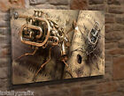 Extra Large Canvas Wall Art Picture Print Steampunk Music Musical Insects KA35