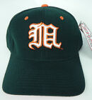 MIAMI HURRICANES GREEN (WHITE M) NCAA VINTAGE FITTED ZEPHYR DH CAP HAT NWT!