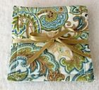 COASTER SET~Set Of 4~PAISLEY DESIGNS~Handcrafted~Reversible~Washable~Lined~NEW~F