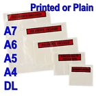 A7 A6 A5 A4 DL DOCUMENTS ENCLOSED PRINTED PLAIN WALLETS ENVELOPES SELF ADHESIVE