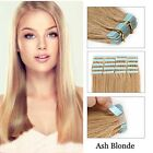 """16""""-26 inch Ash Blonde Tape-In Real Human Hair Extensions Travel Beauty Gift NEW"""