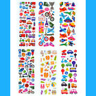 6 Sheets Scrapbooking Bubble Puffy Stickers Transportation Vacation ST0001-06