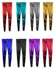 GIRLS kids Disco Metallic Shiny Dance Leggings HARLEY QUINN CUSTOM COSTUMES FOIL £4.99 GBP on eBay