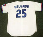 CARLOS DELGADO Toronto Blue Jays 2001 Majestic Throwback Home Baseball Jersey