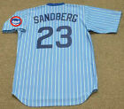 RYNE SANDBERG Chicago Cubs 1982 Majestic Cooperstown Throwback Baseball Jersey