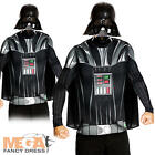 Darth Vader + Mask Mens Fancy Dress Star Wars Halloween Villain Adults Costume