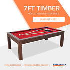 2019 NEW! 7FT Pool Dinning Office Snooker Billiards Table Free Accessory $649.99 AUD on eBay