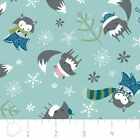 WINTER WONDERLAND FOXES RAINWATER CAMELOT QUILT SEW CRAFT FABRIC **Free Oz Post