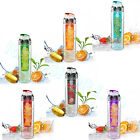 800ML FRUIT INFUSER FUZER INFUSING WATER BOTTLE FOR GYM SPORTS BIKE RUNNING CAMP
