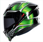 Casco Helmet Helm AGV K5 K-5 INTEGRALE FIBRA MULTI - HURRICANE BLACK/GREEN/WHITE