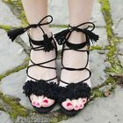 ZARA BLACK LEATHER LACE UP SANDALS SHOES SIZE UK 3,4,5,6,7,8 NEW WITH BOX