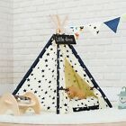 Detachable Washable Indoor Star Canvas Pet Dog Cat Teepee Play Tent House Bed