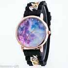 GIFT Fashion Women Men Universe Star Dial Steel Women Quartz Wrist Watch