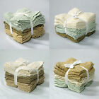 SET of 12 - 100% Cotton Budget Bath FACE WASHERS Towels Cloth 30cm x 30cm