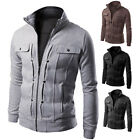 New Fashion Men\'s Slim collar jackets zipper jacket Tops Casual coat outerwear