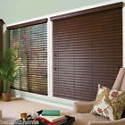 NEW Achim Home Furnishings Madera Falsa 2-Inch Faux Wood Blind - Mahogany