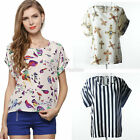 Women Chiffon Short Sleeve T Shirt Casual Tops Ladies' Summer  Loose Blouse