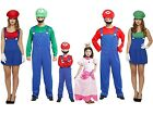 Super Mario Luigi Fancy Dress Costume Game Girl Men ladies boy