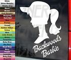 "Backwoods Barbie Silhouette Country Redneck Girl 6"" VINYL STICKER DECAL Truck"