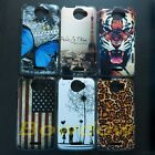 1 pcs Retro UK US flag butterfly Tiger back hard case cover For HTC One X S720e
