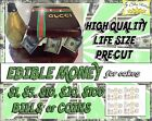 Money coins Birthday cake topper Edible picture image sugar paper frosting bills