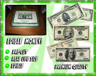 Money Birthday cake topper Edible picture image sugar paper bills DOLLARS