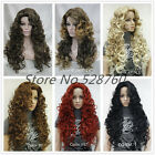 Woman's Blonde/black/brown Long Wavy Curly Wigs High quality synthetic hair wigs