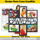 6 In 1 Photo Frame Wood Wall Collage GRANDKIDS Black/White Brand NEW Gift Idea