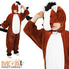 Horse Kids Farm Animal Fancy Dress Child Boys Girls Costume Outfit 3-11 Years
