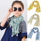 Внешний вид - Toddler Baby Kids Girls Tassels Leaf Scarf Neckerchief Shawl Fringed Scarves New
