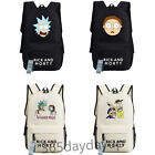 Rick and morty bag Backpack Laptop Book School Bag Black white New/wtag