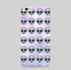 Alien Emoji Spaaceship UFO Martian Faces Cool Pattern Phone Case Cover