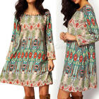 New Womens Boho Maxi Short Dress Evening Party Summer Beach Dresses Plus Size