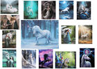Unicorn Wall Art picture on canvas wall plaques designed by Anne Stokes