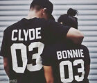 Bonnie and Clyde couples shirts Matching T-Shirt casual wear Lovers T-shirt Tops