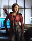 Thea Queen/Speedy(Willa Holland) Burgandy Waxed Black Costume Leather Jacket