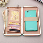 Women High Heels Phone Wallets Case Candy Color Long Purse 6.5 Inch Phone Bags