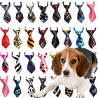 Fashion Lot 100 Pcs Polyester Dog Pet Ties Necktie Puppy Cat Adjustable Bow Tie
