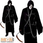 Ghostly Ghoul Mens Fancy Dress Halloween Grim Reaper Scary Horror Adults Costume