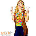 Cool Hippie Kit Ladies Fancy Dress Hippy 60s 70s Adults Womens Costume Set Acc