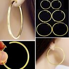 #E121B Pair CLIP ON Hoop non-pierced EARRINGS Spring Closure Women Big Small NEW