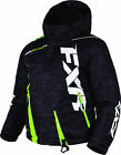 FXR Youth Black Digi/Lime Boost Insulated Snowmobile Jacket Snow