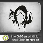 waf1033 - Fox Hound Wall tattoo KIWISTAR - Sticker