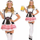 Ladies Oktoberfest Costume Womens Pink White Sexy German Fancy Dress Amscan