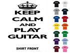 Keep Calm And Play Guitar T-Shirt #112 - Free Shipping